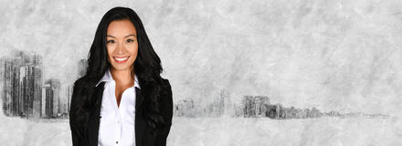 Businesswoman With Skyline Royalty Free Stock Images