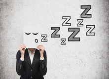 Businesswoman sleep Stock Photo