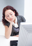 Businesswoman sleeping Royalty Free Stock Photo