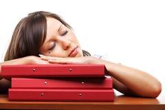 Businesswoman sleeping Royalty Free Stock Photos