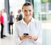 Businesswoman smart phone Royalty Free Stock Image