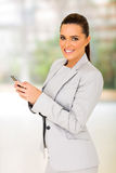Businesswoman smart phone Royalty Free Stock Photos