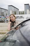 Businesswoman with smartphone Stock Image