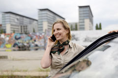 Businesswoman with smartphone Stock Photography