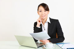 Businesswoman smiles Stock Photography