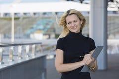 The businesswoman smiles Stock Photos
