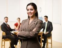Businesswoman smiling Royalty Free Stock Photography