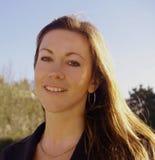 Businesswoman smiling royalty free stock photo