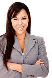 Businesswoman smiling Stock Photo