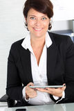 Businesswoman smiling Stock Photos