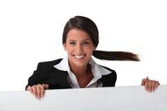 Businesswoman smiling Royalty Free Stock Photos