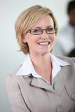 Businesswoman smiling. Stock Photo