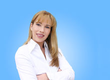 Businesswoman smiling. Smiling blonde woman Stock Photos