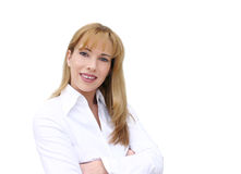 Businesswoman smiling.  Royalty Free Stock Photos