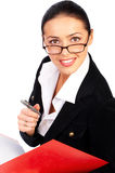 Businesswoman smiling. royalty free stock images