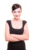 Businesswoman smiling with arms crossed Royalty Free Stock Photo