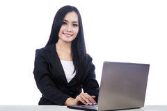 Businesswoman smiling at camera Stock Photos