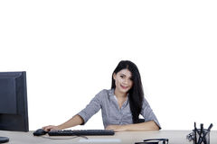 Businesswoman smiling at the camera Stock Images