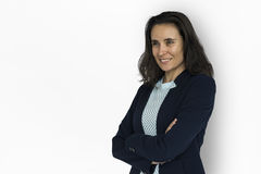 Businesswoman Smiling Happiness Portrait. Concept Stock Images