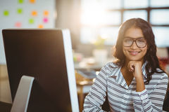 Free Businesswoman Smiling In Office Stock Photography - 75198272