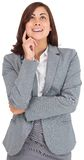 Businesswoman smiling and looking up Stock Photos