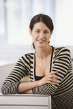 Businesswoman Smiling In Office Royalty Free Stock Image