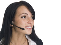 Businesswoman - smiling receptionist Royalty Free Stock Photos
