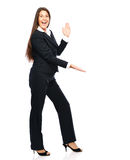 Businesswoman smiling showing Stock Images