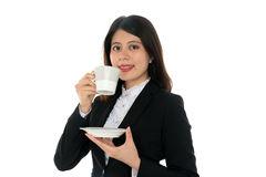 Businesswoman Smiling Stock Image