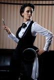 Businesswoman smoking Stock Photos