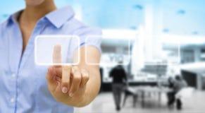Businesswoman solution concept Stock Image