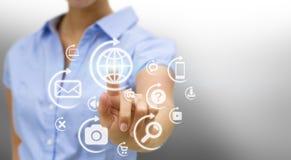 Businesswoman solution concept Stock Photo