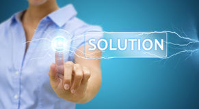 Businesswoman solution concept Stock Images