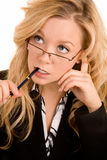 Businesswoman Solving a Problem Stock Photos