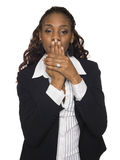 Businesswoman - Speak No Evil Stock Image