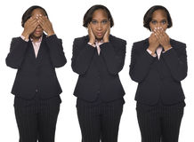 Businesswoman - Speak No Evil Royalty Free Stock Image