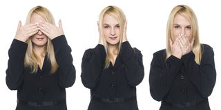 Businesswoman - speak no evil Royalty Free Stock Photography