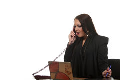 Businesswoman speak phone Royalty Free Stock Images