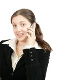 Businesswoman  speaking by mobile Stock Photography