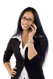 Businesswoman speaking on the phone Stock Photos