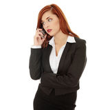 Businesswoman speaking on the phone Stock Image