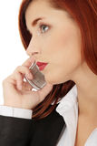 Businesswoman speaking on the phone Stock Photography