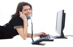 businesswoman speaking at the phone Royalty Free Stock Photography