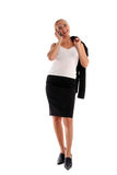 Businesswoman speaks by phone Royalty Free Stock Image