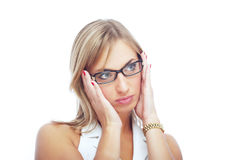 Businesswoman with spectacles Stock Images