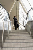 Businesswoman on Stairs - Wide Angle Royalty Free Stock Photo