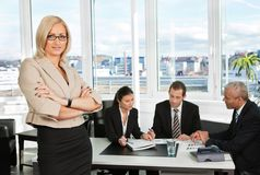 Businesswoman standing in front Royalty Free Stock Images