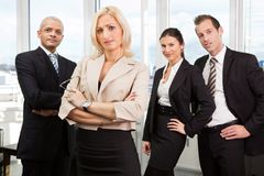 Businesswoman standing in front Royalty Free Stock Photography