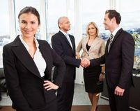 Businesswoman standing in front Stock Photography