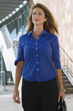 Businesswoman Standing In Front Of Office Building Royalty Free Stock Images